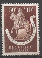 1942 50c + 10c Statue,  Mint Light Hinged - Belgium