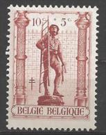 1943 10c + 5c Statue,  Mint Light Hinged - Belgium