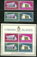 "Cayman Islands         ""Goverment Buildings""      Set  & Souv. Sheet       SC# 300-03a   MNH** - Cayman Islands"