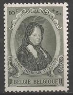 1941 10c + 5c Marie Theresa, Mint Light Hinged - Belgium