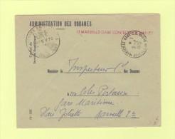 Marseille CD - Controle Douanier - 1970 - Marcophilie (Lettres)
