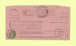 Avis De Reception - Type Pais - Marseille St Ferreol B - Marseille Arrivee - 1938 - Postmark Collection (Covers)