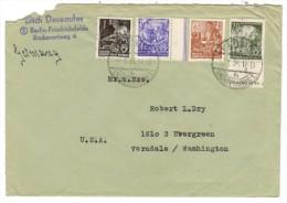 3316. German Democratic Republic 1954 Cover Used