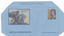 Vatican City 1983 A 21 500th Anniversary Of The Birth Of Raffaello Sanzio, Unused Aerogramme - Vatican
