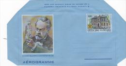 Vatican City 1995 A 33 FDeath Centenary Of L.Pasteur  Mint Aerogramme - Vatican
