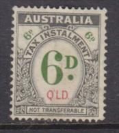 Australi : Queensland, George VI, 1941 TAX INSTALLMENT, 6d, Unused, No Cancel, Small Trace Of Gum - Revenue Stamps