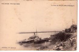 Mali.. Animée.. Kayes.. Belle Vue Du Port.. Fleuve Sénégal.. Carte Nuage.. Colonies Française.. Bateau - Mali