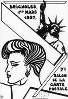 VAR 83 BRIGNOLES CARTE PIRATE DU SALON  ILLUSTRATEUR LARDIE DIT JIHEL STATUE DE LA LIBERTÉ - Bourses & Salons De Collections