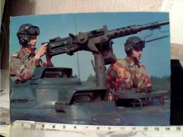 Puntatore Mitragliatrice Browning 12,7-stato Maggiore Esercito-1971 SU CARRO ARMATO  TRUPPE  CORAZZATE VB1970 EN9763 - Manovre