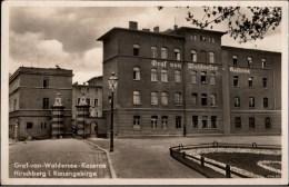 ! alte Ansichtskarte Hirschberg in Schlesien, Graf von Waldersee Kaserne, 1941, Militaria