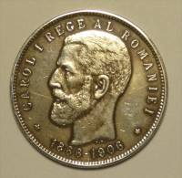 B Roumanie Romania Rumänien 5 Lei 1906 Argent Silver HIGH GRADE # 2 - Romania