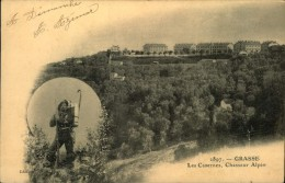 N°247  QQ CASERNE GRASSE LES CASERNES CHASSEUR ALPIN - Barracks