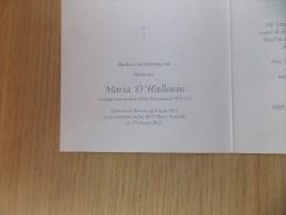 Doodsprentje Maria D'Hallewin Wervik 8/4/1916 - 19/1/2012 ( Leon Deceuninck ) - Religion & Esotérisme