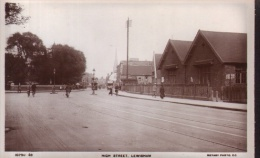 "Old Postcard :  ""High Street, Lewisham""   B/W Real Photo, By Rotary Photo Co - London Suburbs"
