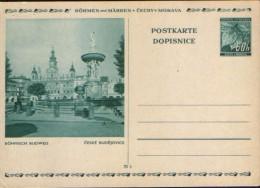 Germany/Böhmen Und Mähren - Postal Stationery Postcard Unused 1939- P6 60(70)h,blaugrun -Böhmisch Budweis,Ceske Budejov. - Stamped Stationery