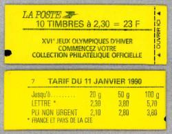 Carnet 2614-C5a Marianne de Briat, Jeux Olympiques d'Hiver - conf. 7 - non ouvert (scan)