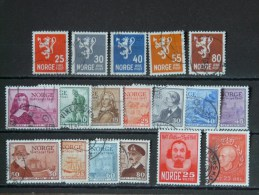 NORVEGE - 1947 Année Complète O / * (voir Scan) - Ganze Jahrgänge