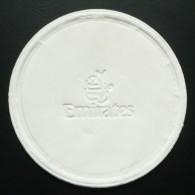 Sous-verre - Papier Double épaisseur - EMIRATES - Vol Dubaï UAE / Johannesburg AFRIQUE Du SUD - Coasters