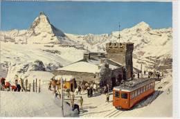 ZERMATT - Gornergrat - Bahn Mit Matterhorn, Train - VS Valais