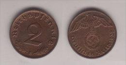 Drittes Reich , 2 Reichspfennig , Jäger 362 , 1938 E - [ 4] 1933-1945: Derde Rijk