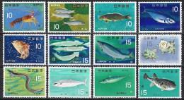 L104 FAUNA VISSEN FISH POISSONS FISCHE KARPER AAL MAKREEL JAPON NIPPON JAPAN 1966 PF/MNH - Poissons