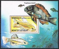 L149 FAUNA VISSEN FISH POISSONS FISCHE MONGOLIA 1987 PF/MNH - Poissons
