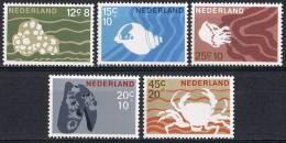 L169 FAUNA VISSEN FISH POISSONS FISCHE KRAB CRAB MARINE LIFE NETHERLANDS 1967 PF/MNH - Poissons