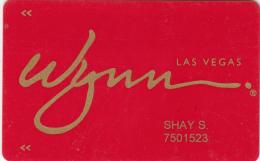 Casino Wynn - Member Card - Las Vegas - Nevada - USA