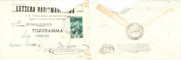 T128) TRIESTE AMG-FTT LETTERA RADIOMARITTIMA 1953 PER MILANO - 7. Trieste