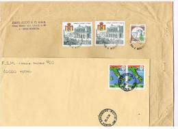 ITALIA -  STORIA POSTALE - 1989.1990  LOTTO DI 2 BUSTE  PER L' INTERNO     - RIF. 2077 - 6. 1946-.. Republik