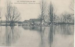 MANTES-LA-JOLIE - N° 868 - LES INONDATIONS DE 1910 - FERMES DES ENVIRONS (PUB BOUILLON KUB AU DOS) - Mantes La Jolie