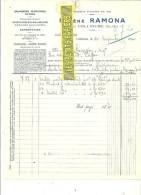 66 - Pyrénées-orientales - COLLIOURE - Facture RAMONA - Salaisons Maritimes En Gros – 1930 - REF 129 - France
