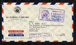 Costa Rica 1963 Registered Cover To GB Meter Cancel (B612) - Costa Rica