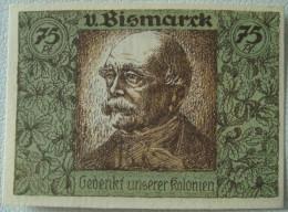 Deutschland, Germany - Notgeld, 75 Pfennig, DEUTSCH-HANSEATISCHER KOLONIAL GEDENKTAG, 1921 ! - Collections