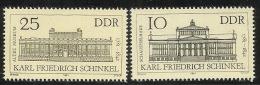 Germany DDR 1981 Karl Schinkel Set MNH - [6] Democratic Republic