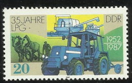 Germany DDR 1987 Agricultural Cooperative 35th Anniversary MNH