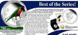 AUSTRALIA 50 CENTS PARROT BIRD COLOUR FRONT QEII BACK 2013 1/2 Oz .999AG PROOF SILVER READ DESCRIPTION CAREFULLY!!! - Sin Clasificación
