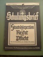 """Propaganda-Zeitschrift """"Der Schulungsbrief"""" Der Reichsorganisation Der NSDAP Berlin 1939, Gute-Erhaltung!! - Revues & Journaux"""