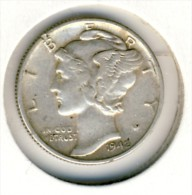1942 United States Silver 10 Cents, Dime In Great Condition, Very Difficult To Find This Nice - Federal Issues