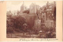 Dépt 80 - SAINT-VALÉRY-SUR-SOMME - Photographie Collée Sur Carton D'origine, 1904 - Anciens Remparts, Promenade - Photo - Saint Valery Sur Somme
