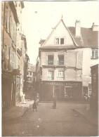 Dépt 22 - SAINT-BRIEUC - Photo 8x11cm - Rue Aux Toiles (Pottier, Charcuterie Lardou, Pharmacie Corson) Photographie,1904 - Saint-Brieuc