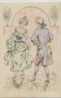 Belle Carte Dessin Illustrée Signée Vitus Danse Le Menuet - Danse