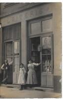 DEVANTURE DE MAGASIN - LAITERIE - CARTE PHOTO - Geschäfte