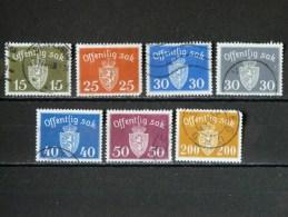 NORVEGE - Service N° 52/58 O - Dienstmarken