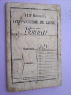 LIVRET MATRICULE POILU DU 112 RGT INFANTERIE DE LIGNE 1874 - Documents