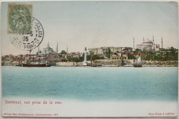 Constantinople (Turquie), Vue Prise De La Mer, Timbre Levant, Carte Postale Ancienne. - Türkei
