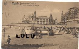 Belgique , Ostende La Plage Vers Le Kursaal - Oostende
