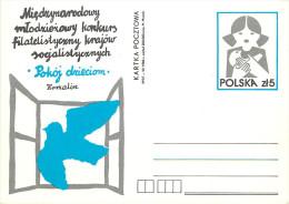 POLSKA -  POKOJ  DRIECIOM  -  COLOMBE - Stamped Stationery