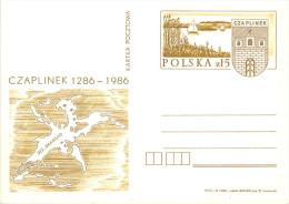 POLSKA -   CZAPLINEK -  LAGO  DI  DRAWSKO  -  Nello Stemma  CICOGNA  CICONIA - Geology