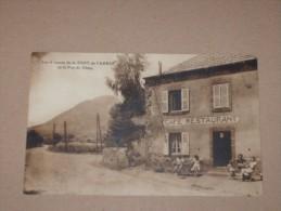CPA Cp Puy De Dome Animé Cpsm 63 La FONT DE L´ARBRE LES 4 ROUTES V1925 GP CAFE RESTAURANT - Autres Communes